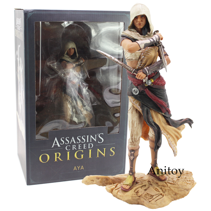 Assassins Creed Origins Aya PVC Figure Collectible Model Toy 22cm neca 7 assassins creed altair ezio action figure pvc doll model collectible toy gift
