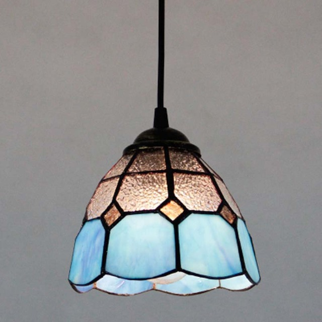 FUMAT Stained Glass Lights European Art Lampshade Kitchen Living Room Lighting For Dining LED