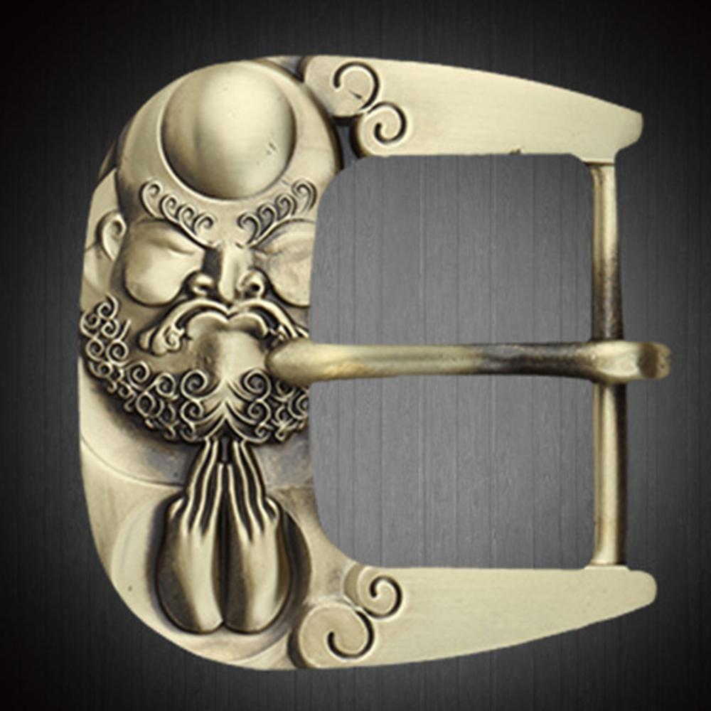 CUKUP Chinese Ghost Pattern Belt Buckles Pin Style New Designers Brand Belts Solid Brass Buckle Metal 3.8cm Width Belt BRK032