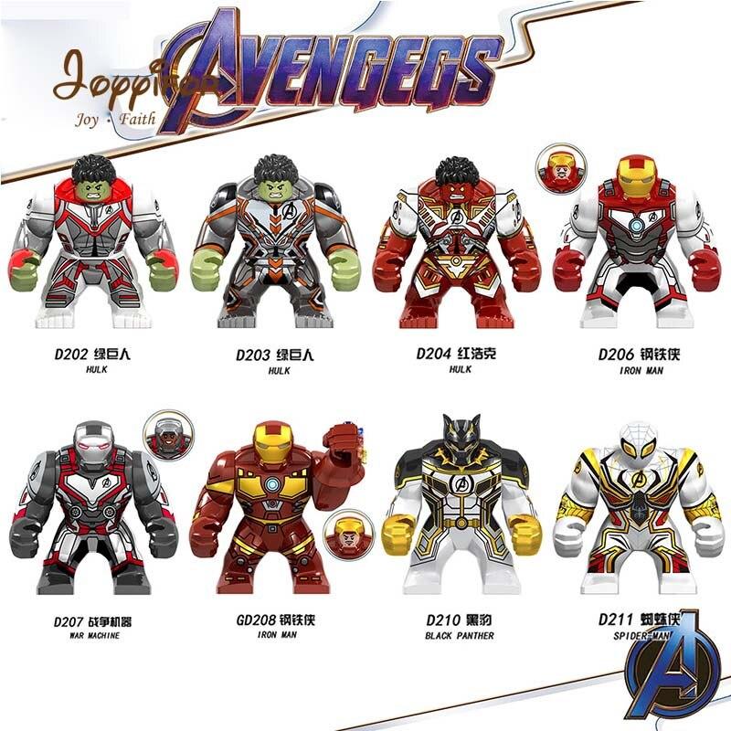 Superhero Diy Modell Bausteine Kompatibel Mit Legoingly Mini Figuren Ende Spiel 4 Große Größe Ziegel Hulk Iron Man Thonas Den Menschen In Ihrem TäGlichen Leben Mehr Komfort Bringen
