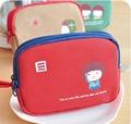 YL022 Unisex coin purses 12*8.5*2.8cm Korea cute double zipper canvas purse children wallet phone package Wallets