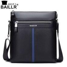 BAILLR Marke Echtes Leder Hohe Qualität Business Männer damentasche Messenger Taschen Männer Leder Crossbody Umhängetasche Männer Reisetaschen