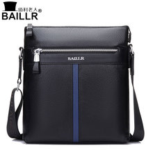 BAILLR Brand Genuine Leather High Quality Business Men's Bag Messenger Bags Men Leather Crossbody Shoulder Bag Men Travel Bags