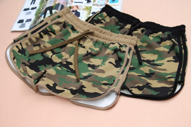 Hot sale!!  shorts camouflage loose high waist cotton casual hot shorts high quality