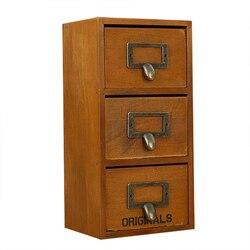 Vintage trzy do przechowywania z warstwową konstrukcją półki Retro drewniane pudełka do przechowywania ozdoby drewniany wkład do szuflady ozdoby na biurko artykuły wyposażenia wnętrz prezent