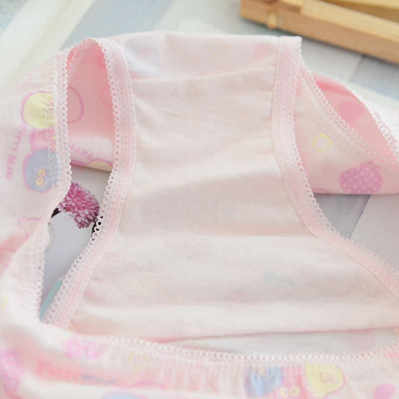 6 قطعة/الحزمة طفل الفتيات القطن لينة سراويل فتاة الاطفال ملابس داخلية قصيرة ملخصات الأطفال السروال