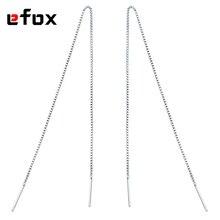 4 Size (9cm~18cm)  Drop Earings Line Fashion Grace And Elegance Long Earings Chain Women  Silver Plated Jewelry