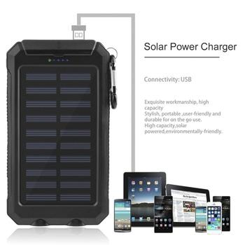 30000mah Solar Power Bank External Battery Bank Fast Charge Dual USB Powerbank Portable Universal Mobile Phone Charger 1