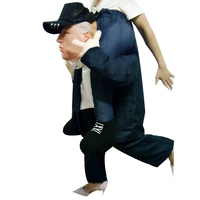 Funny Donald Trump Ride On Costume Santa Claus Cosplay Costumes Christmas Snowman Inflatable Clothes Animal Pants For Adults