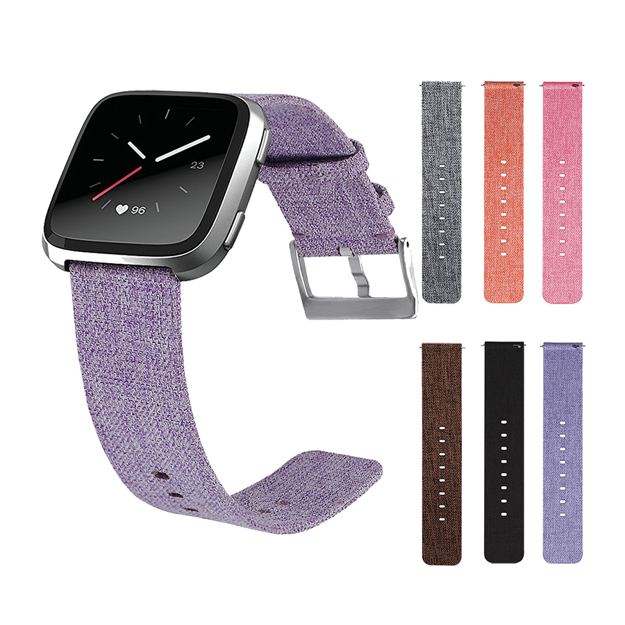 Canvas Watchband Buckle Strap Wristband for Fitbit Versa Smartwatch Watch Band Wrist Bracelet Factory Price Drop Shipping