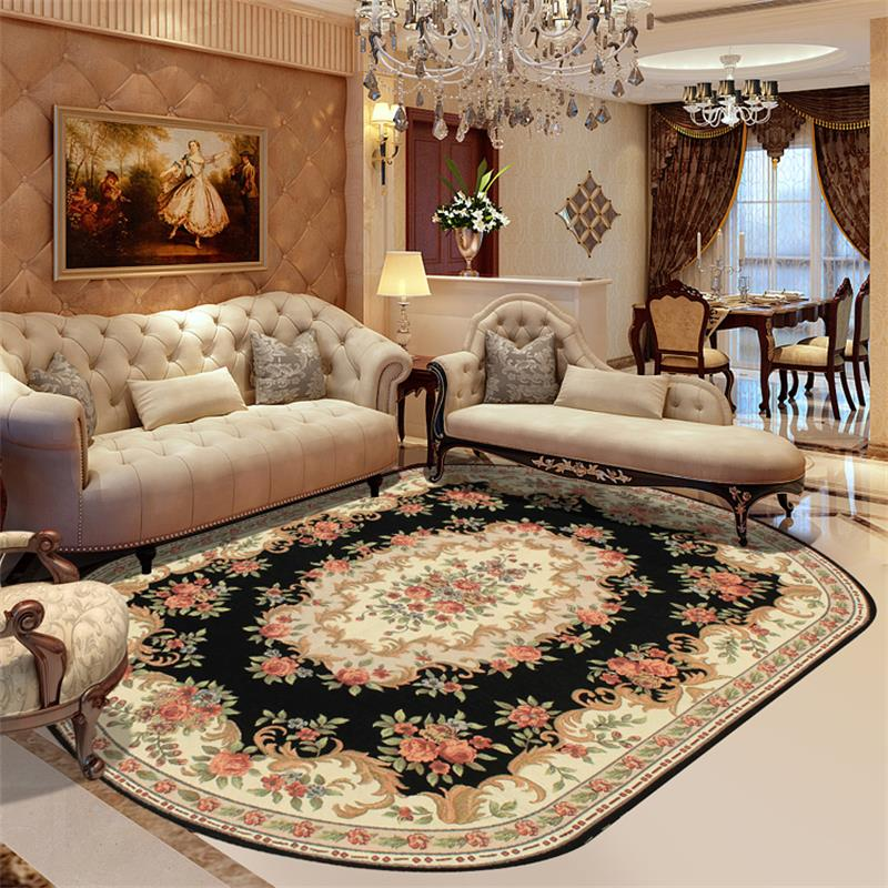 160X230CM Wilton Oval Rugs And Carpets For Home Living Room Europe Bedroom Floor Mat Study