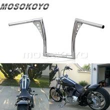 Chrome Black Motorcycle APE Hanger Handlebars 1-1/4 Fat Bar 12 Rise 30-1/2 Wide Drag Bars for Harley Sportster Touring Dyna drag specialities 2001 0278 chrome fat spotlights pair