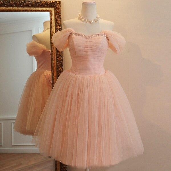 mode mooie roze bandage jurk korte paragraaf bruidsmeisje jurk prinses kostuum diner banket 2015 nieuwe lente