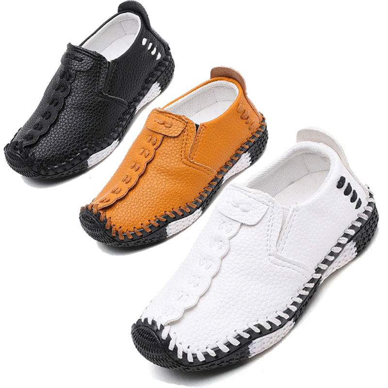 Mother & Kids Flower Children Baby Toddler Little Boys White Leather Shoes For Kids Boys School Party And Wedding Shoes New Autum 1 2-7 Years Leather Shoes