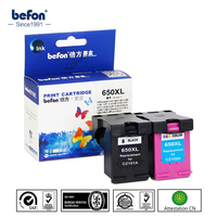 Befon 2Pcs Ink Cartridge For HP650XL 650 Compatible HP Deskjet 1015 1515 2515 2545 2645 3515