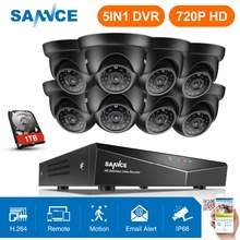 SANNCE Security Camera System 4CH TVL 720P AHD Weatherproof Outdoor CCTV Camera 4 channels Video Surveillance kits 1TB HDD цена в Москве и Питере