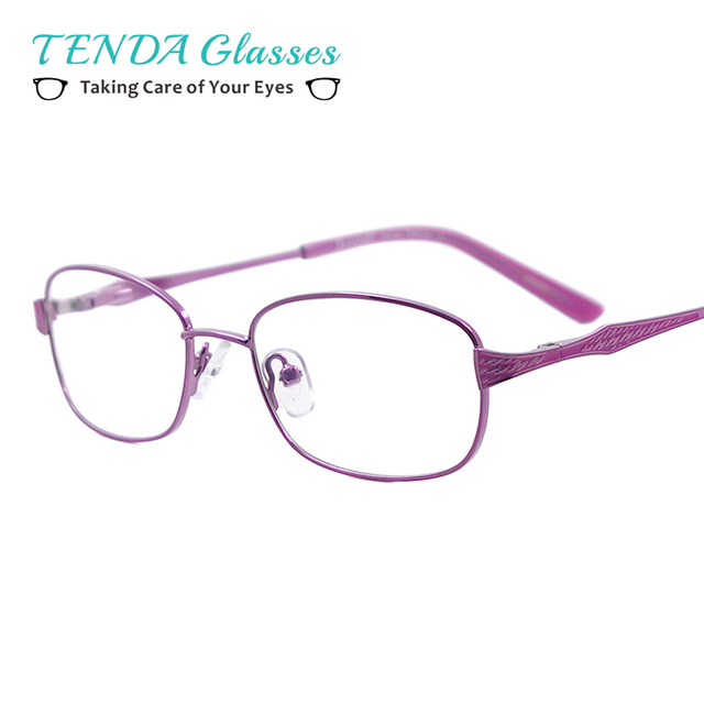 b6a9d99a980 Metal Half Rim Oval Spectacles Fashion Glasses Women Eyewear For  Prescription Degree Lens
