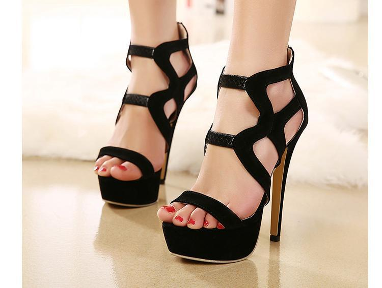 Black Sexy Platform Gladiator Sandals Women Trendy Sexy Black ...