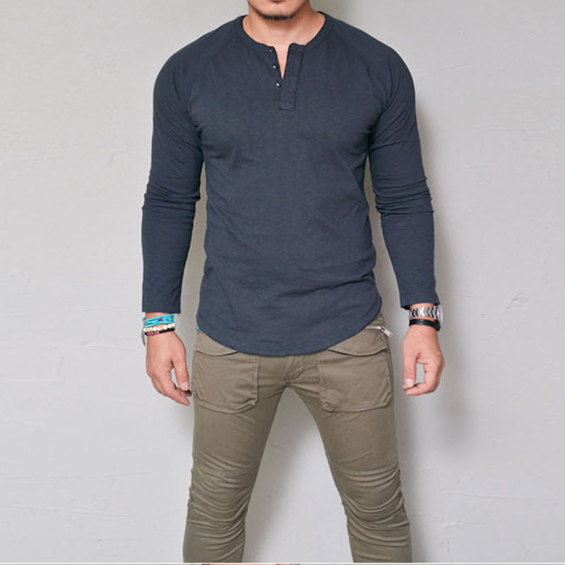 Men/'s Fashion Casual Dress Tee Shirt Slim T Shirt Long Sleeve Tops Shirts Blouse