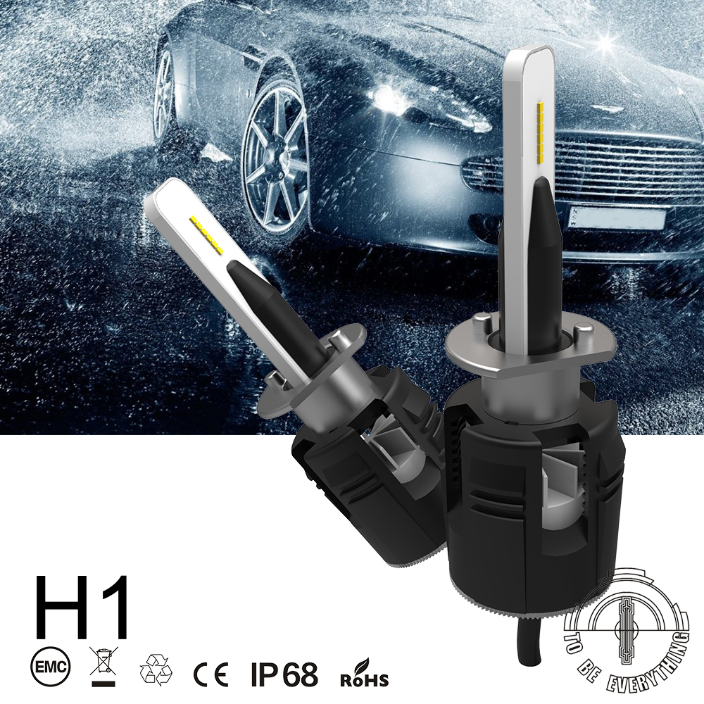 H1 B6 LED Headlight car Slim Conversion Kit 42W 5200LM CSP Y11 Chips All-in-one Pure White 6000K Car Lamp Bulb 2pcs x7 led car headlights led 80w 7200lm 880 super bright cree led ledheadlight all in one conversion kit 6000k pure white