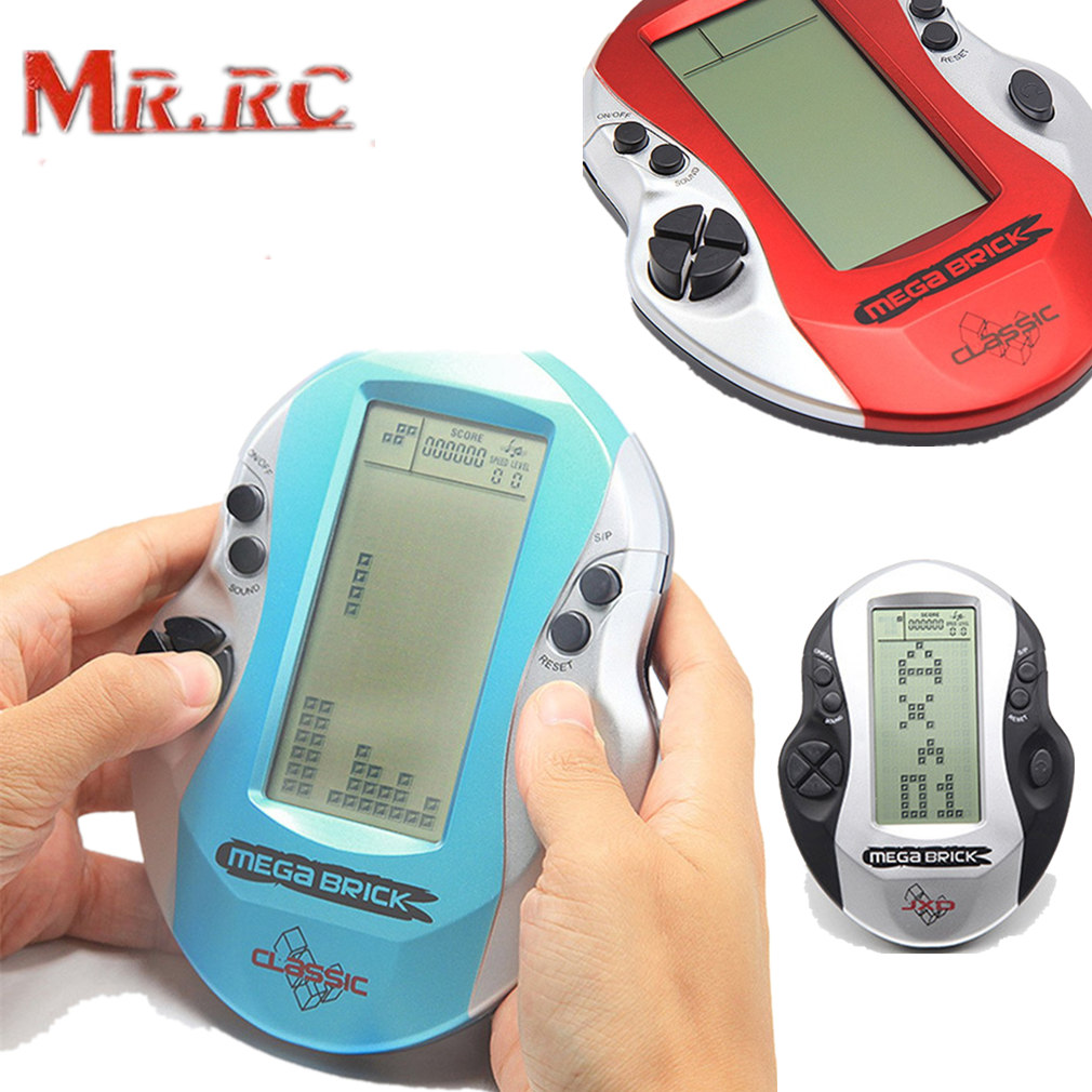 Mr.RC Big Screen Retro Clasic Childhood Tetris Handheld Game Player Console Electronic Games Toys 26 Games For Kids Game Console