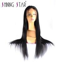 360 Кружева Фронтальная парик предварительно сорвал с ребенком волос бразильского прямо Full Lace парик человеческих волос для черных Для женщи