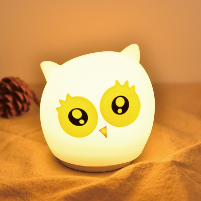 Rechargeable Touch Sensor Colorful Kawaii Owl Silicone LED Night Light Children Cute kids gifts silicone gift for babyRechargeable Touch Sensor Colorful Kawaii Owl Silicone LED Night Light Children Cute kids gifts silicone gift for baby