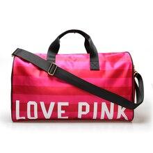 Hohe Qualität Marke Designer Frauen Reisetaschen Rosa Damen Wasserdichte Nylon Große Kapazität Gepäck Einkaufstasche