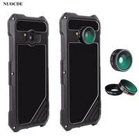 NUOCDE For Samsung Galaxy S9 S8 Plus S7 Case Wide angle Fisheye Macro Lens Outdoor Shockproof Metal Aluminum Armor Cover Cases