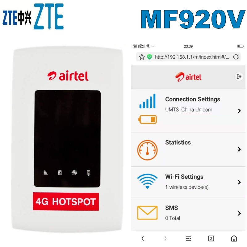 US $43 2 10% OFF|UNLOCKED ZTE MF920V 4G LTE WiFi Modem Router-in Modems  from Computer & Office on Aliexpress com | Alibaba Group