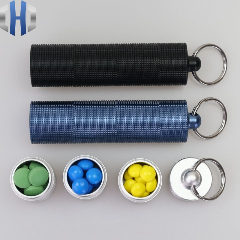 Aluminum Alloy Waterproof Canister Medicine Seal Capsule Emergency Bottle Outdoor EDC Tool Multilayer Waterproof Bottle