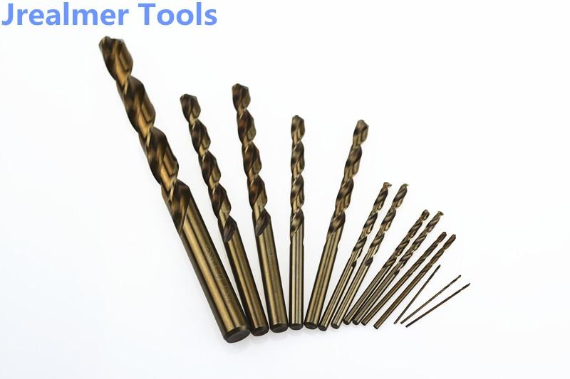 Jrealmer 1mm zu 5mm Kobalt HSS-co Bohrer High Speed Steel Twist Bohrer Bits Holz Bohren Werkzeuge edelstahl