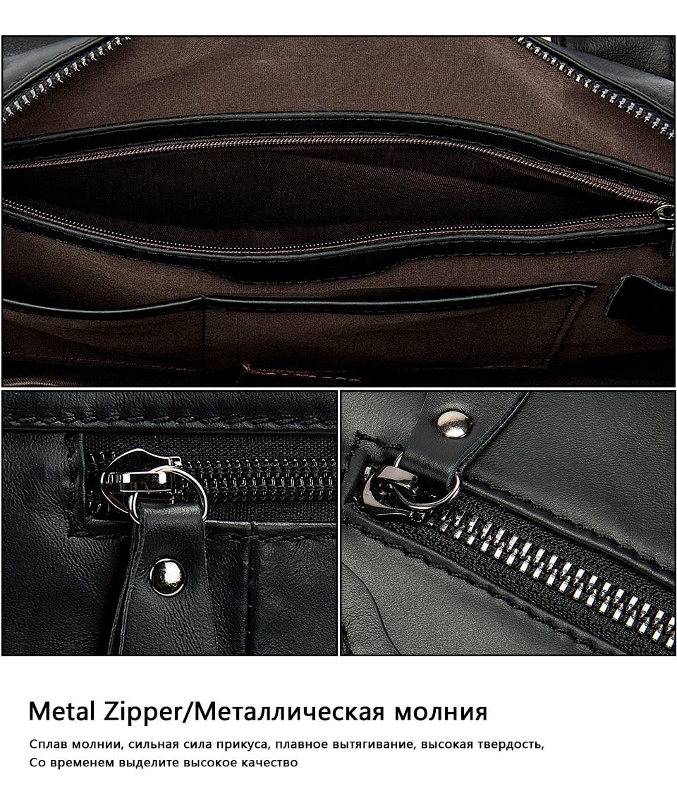 HTB1WA.vbh rK1RkHFqDq6yJAFXaj WESTAL genuine leather bag for men's briefcase bussiness laptop bags for documents messenger handbags tote briefcase 9005