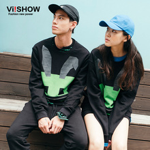 VIISHOW Lover Men and Women Hoodie Casual Long Sleeve Sweatshirt Lovely Print Couples Lovers Sweatshirts Tracksuit