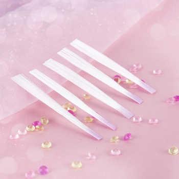 10 Pcs/pack Nail Form Fibernails Acrylic Tips Fiberglass Extension Fiber Glass for Nails Silk Building Manicur Nail Extensions