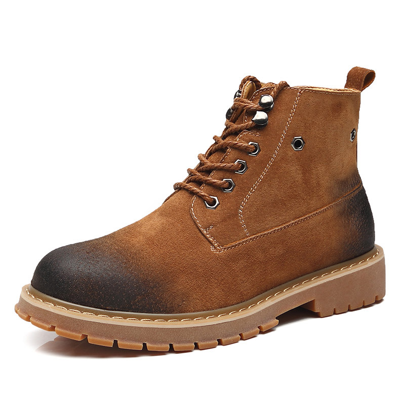 New Martin Boots Men's High Help Chelsea England Leather Men's Shoes Retro Tooling Boots Desert Boots Trend