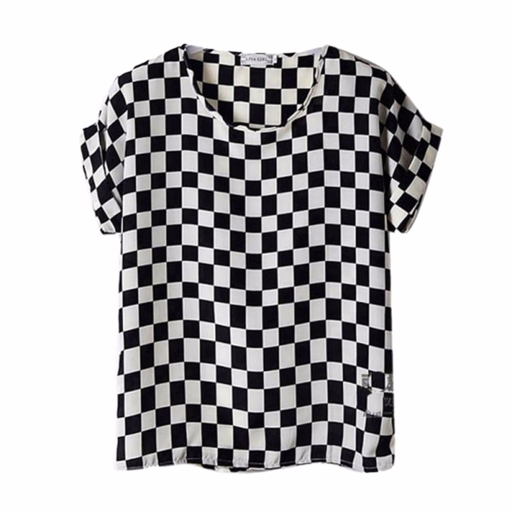 HTB1WA0LRXXXXXbMapXXq6xXFXXXo - T-shirts O Neck Bird Printed Women Top Colorful Short Sleeve