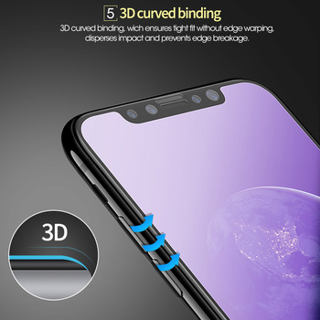3D matowy anty niebieski promień 9H szkło hartowane dla iPhone X XS XR 11 12 Pro Max 7 8 Plus SE 2020 matowe pełna osłona ekranu tanie i dobre opinie YKSPACE CN (pochodzenie) Przedni Film Apple iphone IPHONE 7 IPHONE 7 PLUS IPHONE 8 PLUS IPHONE XS MAX IPHONE XR IPhone11