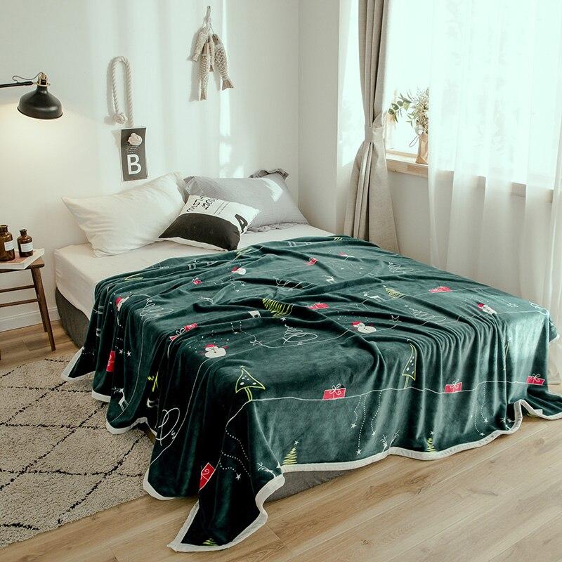 Fashion Warm Plush Ultra Soft Faux Mink Thick Flannel