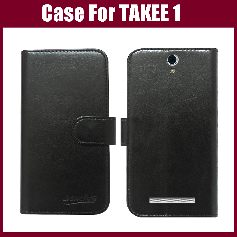 <font><b>TAKEE</b></font> 1 Case Luxury Flip Leather Customized Phone Case Cover For <font><b>TAKEE</b></font> 1 Smart phone With Card Holder Six Colors In <font><b>Stock</b></font>