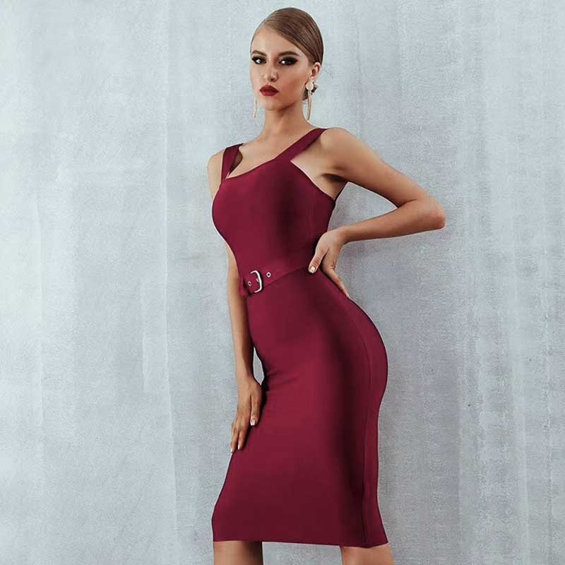 Wholesale 2019 Newest woman s dress Black wine red beige Spaghetti Strap tight fashion Celebrity party