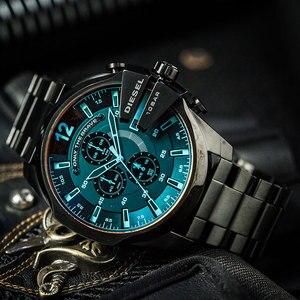 Image 4 - Relógio cronógrafo masculino dz4318, relógio oficial principal série três olhos