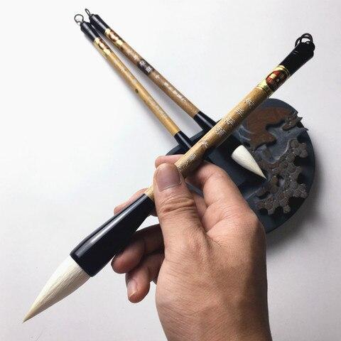 chinesa pinceis caneta conjunto regular roteiro caligrafia