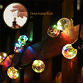 G40 Garden Led String Light 25 Retro Round Bulbs Guirlande Lumineuse Fairy Lights Waterproof Garland Led for Wedding/Party/Xmas