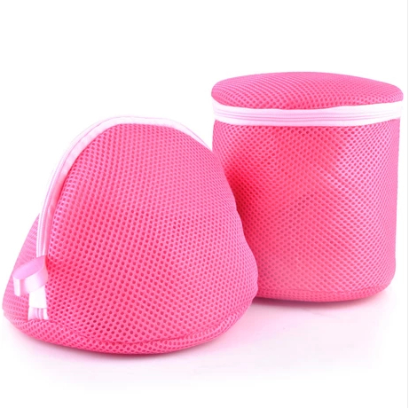 Free shipping New Rose Red Double Layer Home Women Nursing Bra Laundry Lingerie Washing Hosiery Saver Protect Aid Mesh Bag Cube