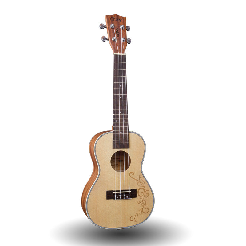 Carving Concert Ukulele 23 Inch Hawaii Guitar 4 Strings Ukelele Guitarra Handcraf Wood Picea Asperata Mahogany White Mini Uke