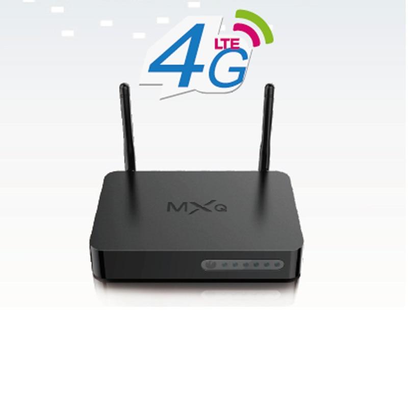 Boîtier TV G16 Android7.1 Amlogic S905X Quad Core 1G 8G 4G LTE décodeur Wi-Fi 4K VP9 H.265 lecteur multimédia avec emplacement pour carte SIM 4G