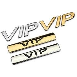 Auto samochód złoty/srebrny wysokiej jakości Unuversally metalowe VIP naklejki Z2CA532|auto car|metal stickersticker silver car -