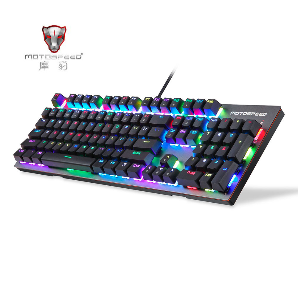 Motospeed CK89 NKRO USB 2.0 Wired RGB Backlight Gaming Mechanical Keyboard Kailh Short Switch 104 Keys Keyboard for Computer motospeed k22 mechanical numeric keypad wired 22 keys mini numpad backlight keyboard extended layout for cashier red switch