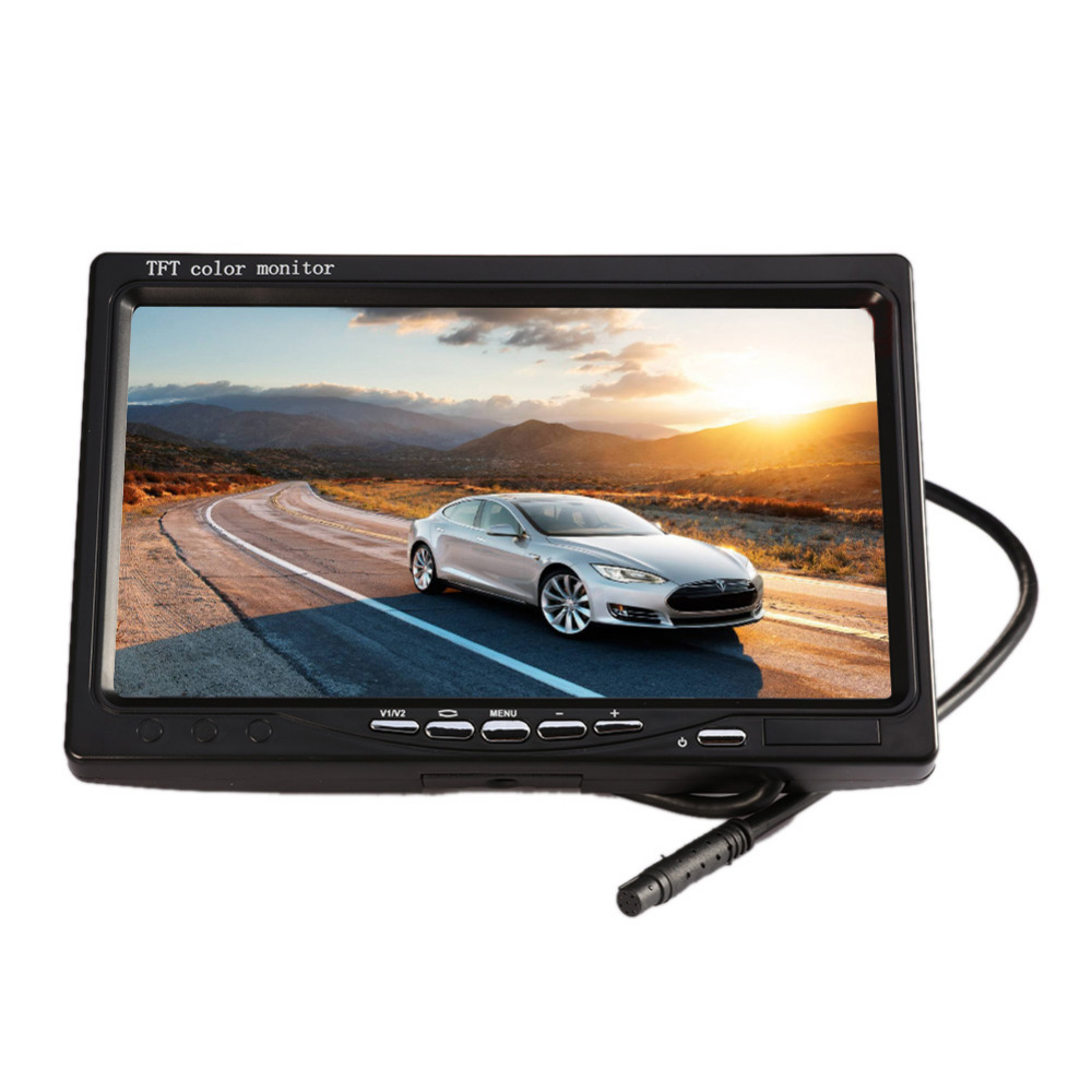 2017 New Wireless HD Front Diaphragm 7Inch Car Rear View Monitor & High Definition Reversing Camera For Bus new 12 24v 7 inch 2 4g digital wireless trailer hd monitor 18 led rear view ir reversing bus truck camera